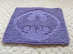 Mini Batman Logo Chart pattern by Elizabeth Thomas - Batman Clothing - Ideas of Batman Clothing - Ravelry: Mini Batman Logo Chart pattern by Elizabeth Thomas Knitting Squares, Dishcloth Knitting Patterns, Crochet Dishcloths, Knitting Charts, Knit Or Crochet, Crochet Motif, Loom Knitting, Knitting Stitches, Free Knitting