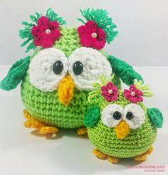 Translate to English-patrones crochet, tejido crochet, patrones crochet Crochet Birds, Cute Crochet, Crochet Crafts, Yarn Crafts, Crochet Baby, Crochet Projects, Knit Crochet, Crochet Fabric, Crochet Amigurumi
