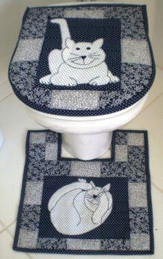 molde+jogo+de+banheiro+em+tecido+patchwork | Para você trago lindos tapetes através de imagens para que você ...