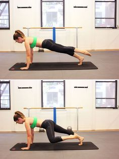 Pilates move for flat abs: spider plank