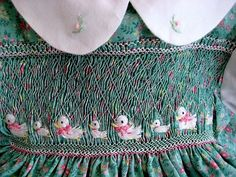 Eight Little Ducks/ Hand Smocked Hand by rabbitwhiskers on Etsy  (2 of 5)