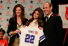 Selena Gomez holds Dallas Cowboys jersey with her name on it