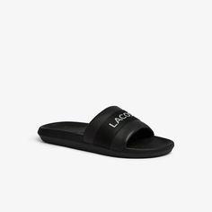 Lacoste, Pool Slides, Sandals, Sneakers, Men, Shopping, Clothes, Shoes, Black