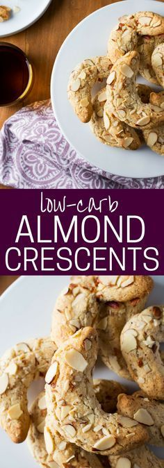 This low-carb Almond Crescent Cookie Recipe is my recreation of one of my childhood favorites--now grain-free with a dairy-free option.