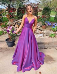 Buy A Line Grape Spaghetti Straps Satin V Neck Long Prom Dresses Backless Evening Dresses online.Shop short long ombre prom, homecoming, bridesmaid evening dresses at Couture Candy Cocktail party dresses, formal ball gowns in ombre colors. Cheap Prom Dresses Online, Long Prom Dresses Cheap, Metallic Prom Dresses, Robes D'occasion, Backless Prom Dresses, Wedding Dresses, Bridesmaid Gowns, Dress Prom, Formal Evening Dresses