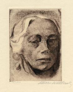 Selbstbildnis (self-portrait) by Kathe Kollwitz, 1912