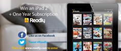 Win an iPad and 1 year of Readly! visit www.readly.com