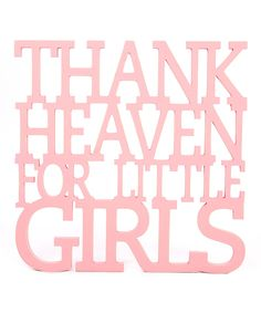 Look at this Pink 'Thank Heaven' Wall Art on #zulily today!
