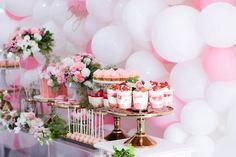 Desserts from a Pink + White & Gold Garden Party via Kara's Party Ideas | KarasPartyIdeas.com (5)