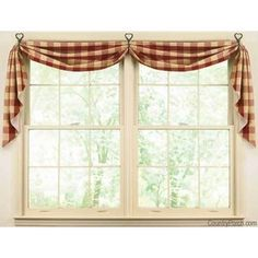 Swag Designs for Windows Curtain Swags Designs Window Curtain Designs Double Window Curtains, Window Curtain Designs, Window Swags, Swag Curtains, Kitchen Window Curtains, Curtain Styles, Curtain Ideas, Kitchen Windows, Country Window Treatments