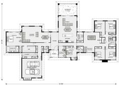 Mansfield Design Ideas, Home Designs in Gympie 6 Bedroom House Plans, New House Plans, Dream House Plans, House Floor Plans, Modern House Design, Home Design, Design Ideas, Interior Design, House Blueprints