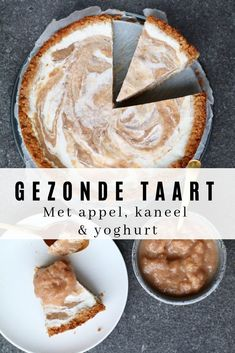 Uncover the recipe on Beaufood.nl Wholesome pies, Gluten-free cheesecake, Wholesome recipes, Beaufood r Healthy Cake Recipes, Healthy Food Blogs, Apple Recipes, Healthy Baking, Appetizer Recipes, Dessert Recipes, Yogurt Cake, Sin Gluten, Yummy Cakes