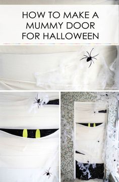 Part of the fun of Halloween is decorating your home for the holiday, and there are plenty of ways to make DIY decorations that won't break the bank. Does your door look bored? Turn it into the walking dead by making a mummy door using bandages and cotton. Get guests in a spooky mood from the start with a mysterious, spider covered, dusty mummy to welcome them. Follow the steps using this eBay tutorial, and craft a cool mummy door in no time at all!