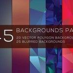 45 Free Blurred and Polygon Backgrounds   Designed by: Saptarshi Nath   Psdblast