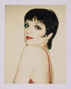 Liza Minelli, photographed by Andy Warhol in 1977