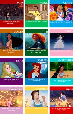undertheseaatdisney: yohoyohoadisneylifeforme: weliveinabeautifulworld: spinwildandfree: Disney Lady Astrology OMG, ME AND ARIEL ARE BOTH SCORPIOS! I don't wanna be Jasmine :( I wanna be Belle!! I'M AURORA AND ARIEL BECAUSE I'M A LIBRA-SCORPIO CUSP YES I APPROVE can i pretend to be a virgo too lol Rapunzel!