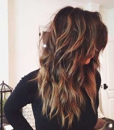 Long Hairstyles Choppy Layers