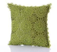 Resultado de imagen para cojines con aplicaciones de crochet