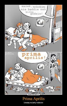 Prima Aprilis – Uważaj na żarty rodziców