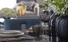 Penthouse contemporary dining room North Knightsbridge: Helen Green