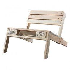 Paletten Stuhl - Weiß