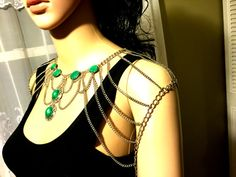 Shoulder Jewelry for Business Women. Body Chain. by MirelaS