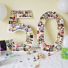 giant personalised photo number decorations by instajunction | notonthehighstreet.com