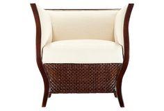 Rosa Tub Chair, Hazelnut on OneKingsLane.com