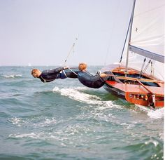 Rodney Pattisson and Ian MacDonald-Smith sailing a Flying Dutchman 1968