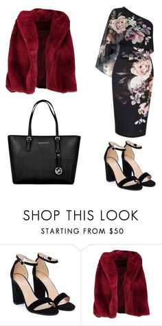 """""""Red faux vixen"""" by vilzak on Polyvore featuring Nasty Gal, Lipsy, Boohoo and MICHAEL Michael Kors"""