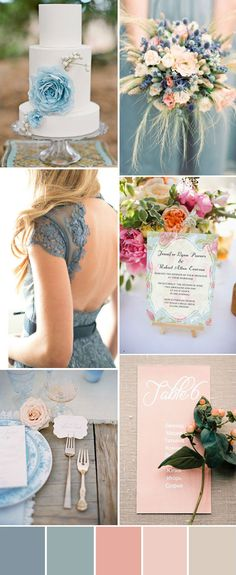 Love this steel blue color, Mother of the groom dress?? peach and blue inspired summer wedding ideas