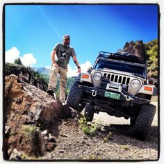 My husband and our Jeep...Lake City, Colorado. Alpine Loop (Jeepers Anonymous)