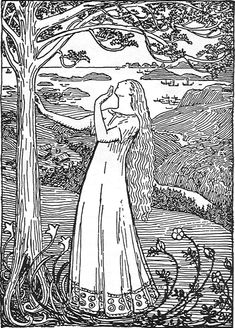 """Queen Ragnhild's Dream"" is an illustration from an ancient sagabook about Norwegian kings made by Snorri Sturluson. She had a dream about a tree growing so big that the branches spread all over the country and even longer."