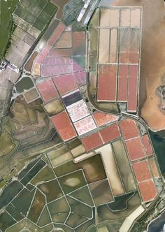 Salt flats in Portugal