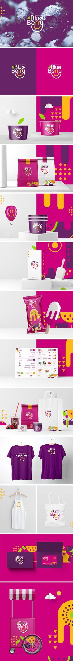 Blueberry Frozen Dessert Branding by Millimeter Brands