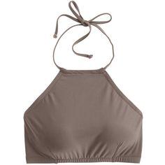 f03acf7ddb J.Crew Cropped Halter Bikini Top ( 53) ❤ liked on Polyvore featuring  swimwear