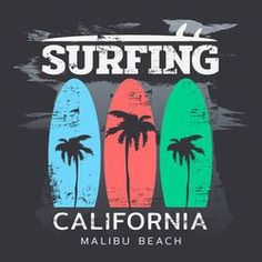 Find Vector Illustration On Theme Surf Surfing stock images in HD and millions of other royalty-free stock photos, illustrations and vectors in the Shutterstock collection. Malibu Surf, Malibu Beaches, Surf Mar, Sunset Surf, Boys Summer Outfits, Surfing Pictures, Surf Girls, Boys Shirts, Printed Shirts
