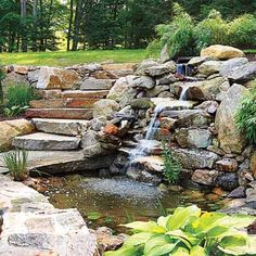 Everything you need to know to build the perfect backyard pond. | Photo: Olson…