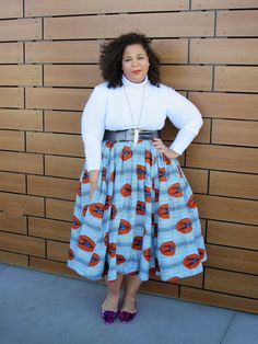 plus size flare skirt, Demestiks, African Print