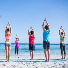 "Yoga on the beach at  FLOATING LEAF ECO-LUXURY RETREAT Walk in. Float out.  http://balifloatingleaf.com  #RESORT | #SPA | #YOGA Facilitating vibrant and lasting wellness. Top 1% of hotels worldwide ~ TripAdvisor 2016 World Luxury Spa Awards ""Best in Asia"" ~ Yoganonymous #resort #luxurylifestyle #firstclasstravel #thegoodlife #fivestar ॐ"