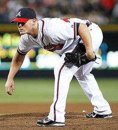 Craig Kimbrel, Atlanta Braves. That stance waiting for the pitch call... love him! he's my adopted son :)