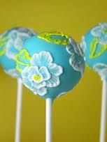 Aqua cake pops