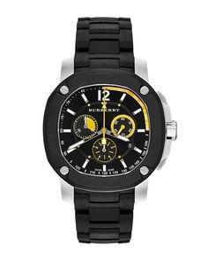The Britain 47mm Chronograph Watch, Men's, black - Burberry