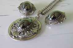Vintage Whiting and Davis Necklace  Hematite Necklace by StellaVi, $36.00