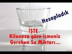 İşte Kilonuza Göre Günde İçmeniz Gereken Su Miktarı !!! Shot Glass, Tableware, Health, Youtube, Dinnerware, Health Care, Tablewares, Dishes, Place Settings