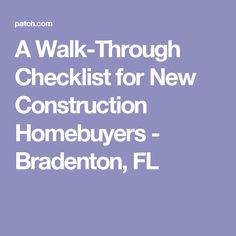 new home walk through inspection tips new house new home construction home new home checklist. Black Bedroom Furniture Sets. Home Design Ideas