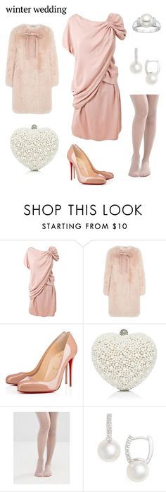 """""""Winter Wedding contest"""" by jaelclarice ❤ liked on Polyvore featuring Prada, Miu Miu, Christian Louboutin, Forever New, ASOS and Mikimoto"""
