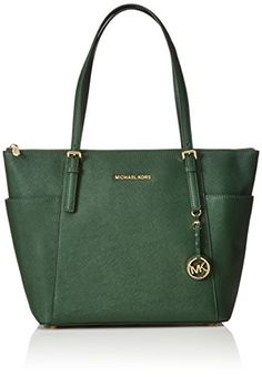 93e48345e2cf Michael Kors Women's Jet Set Large Top-Zip Saffiano Leather Tote Bag Review