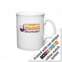 Atlantic Mug. The Atlantic shaped mug is offered in white. Printed using our revolutionary TruColour® system at no extra cost. Plastic Glass, Commercial Vehicle, Promote Your Business, Ceramic Mugs, Dishwasher, Promotion, Ceramics, Printed, Tableware