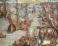 Partindo de Lisboa no século XV, os descobridores portugueses aumentaram as fronteiras e transformaram Lisboa num porto chave para o comércio mundial. Como consequência da viagem iniciada por Vasco da Gama em 1497, descobrindo o caminho para a Índia , colocando Portugal na posição de grande potência marítima. Fonte:http://www.clusterdomar.com/index.php/temas/portos/153-o-porto-de-lisboa